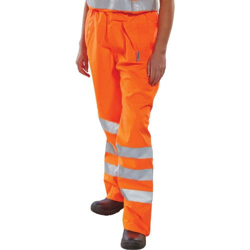 BSeen Birkdale Hi Vis Orange Waterproof Overtrousers